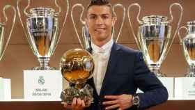 Cristiano con su cuarto Balón de Oro