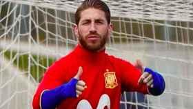 Ramos, con la Selección. Foto Instagram (@sergioramos)