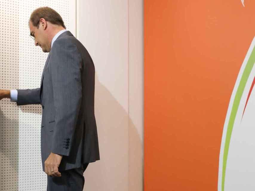 El líder del PSD portugués, Pedro Passos Coelho, tras admitir la derrota de su partido.