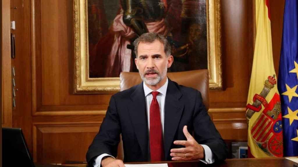 El rey Felipe VI en su mensaje para valorar la situación en Cataluña.