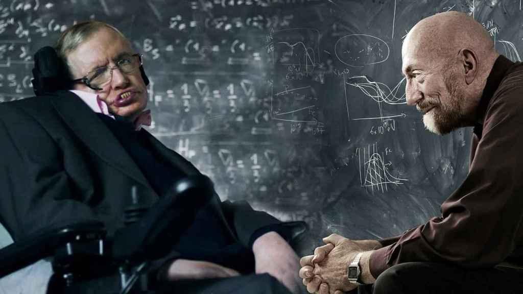Stephen Hawking en uno de sus últimos encuentros con el también físico Kip Thorne.