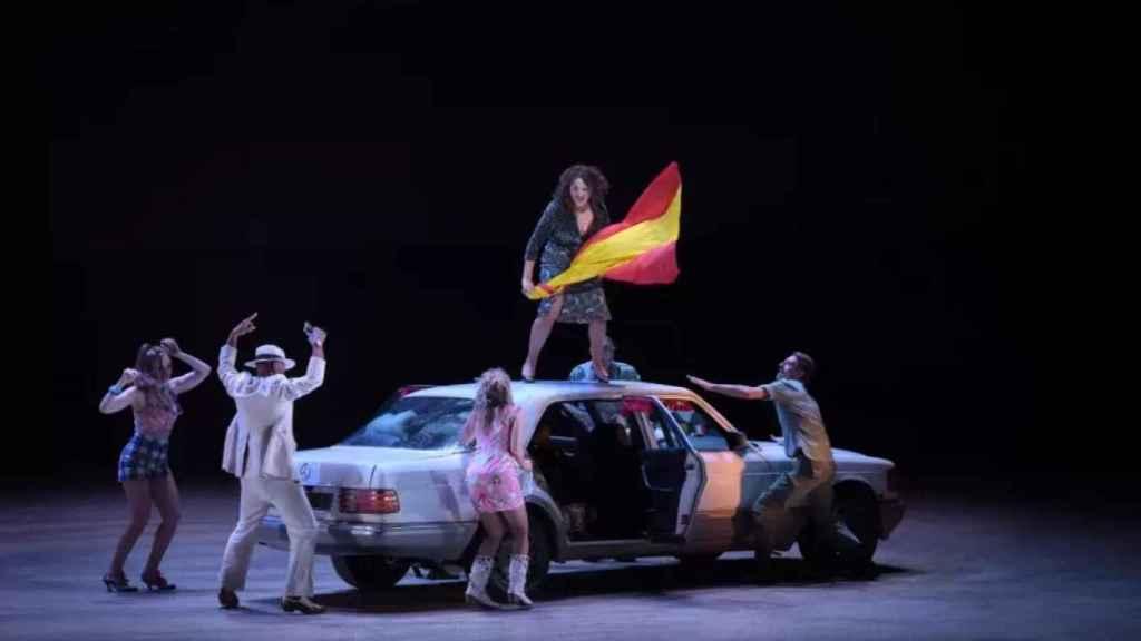Una de las escenas de la Carmen de Bieito presentada en París.