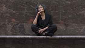 Arundhati Roy en la presentación de la novela.