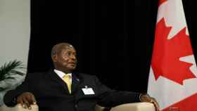 El presidente de Uganda, Yoweri Museveni, en la sede de las Naciones Unidas.