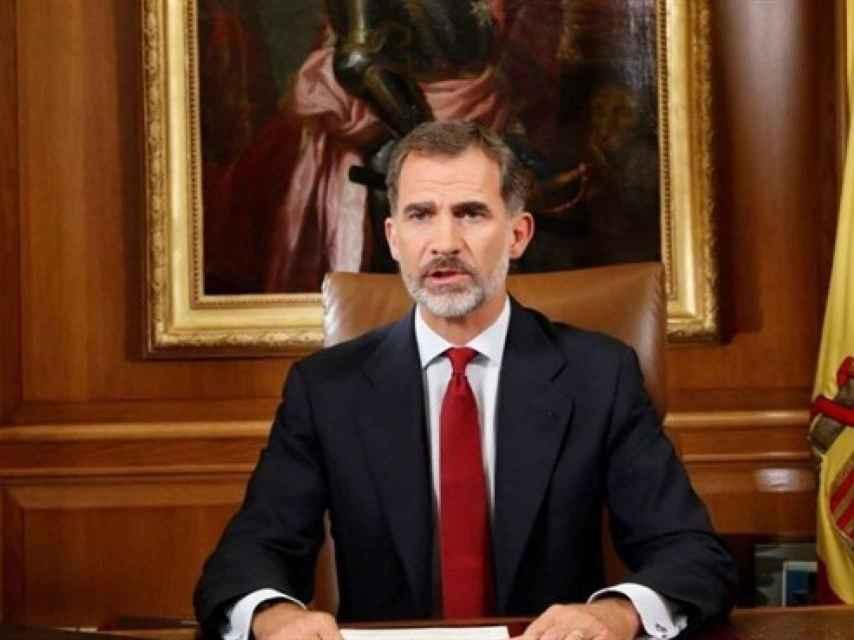 El Rey, en su mensaje sobre Cataluña del pasado 3 de octubre.