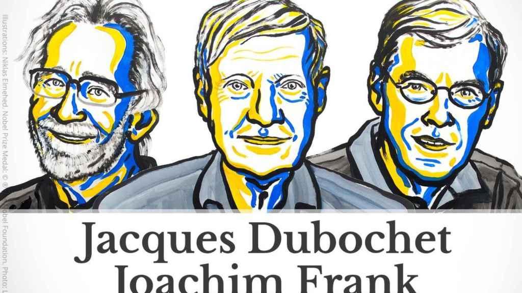 Jacques Duboche, Joachim Frank y Richard Henderson