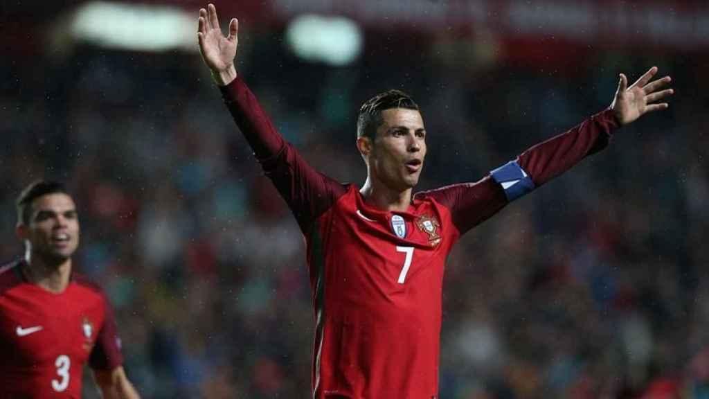 Cristiano en un partido con Portugal. Foto: Twitter: (@selecaoportugal)