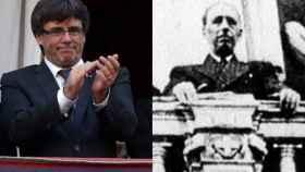 Companys -a la derecha de Puigdemont- protagonista del último precedente de independencia.