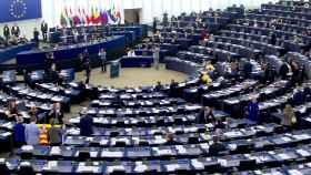 Imagen de la Eurocámara minutos antes del debate sobre Cataluña