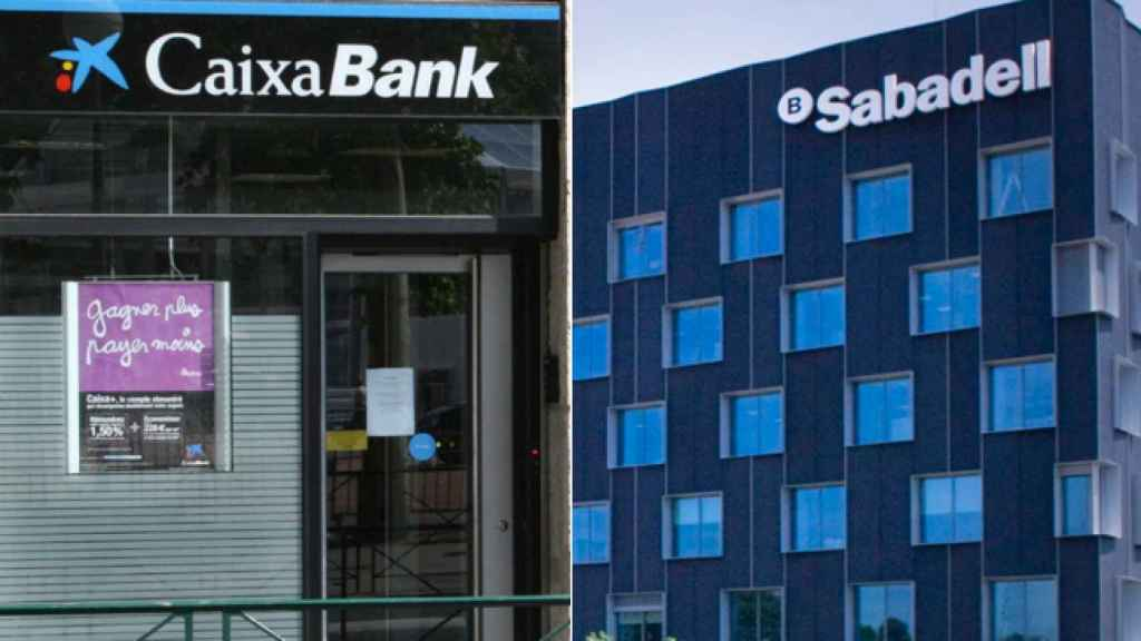 Primera factura 'indepe': Caixabank y Sabadell pierden 3.000 millones en bolsa