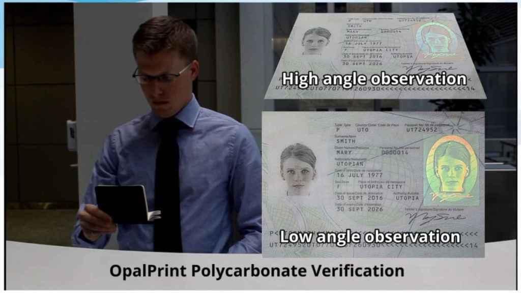 Demostración de verificación con el sistema OpalPrint.