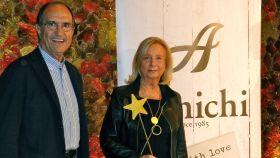 Juan Carlos y su mujer en un evento de Amichi.