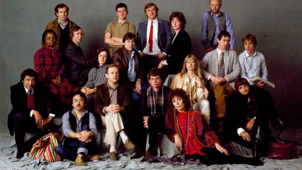 Todos los autores de Anagrama en una foto de grupo.