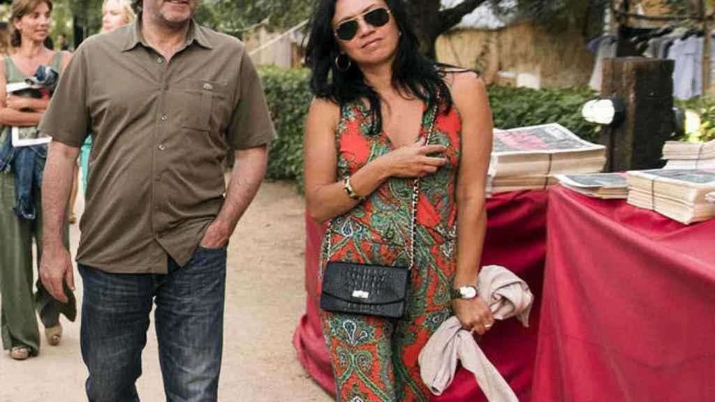 Carles Puigdemont y Marcela Topor, en el festival White Summer