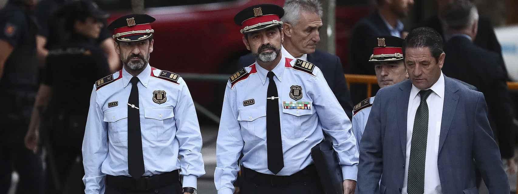 El mayor Josep Lluís Trapero a su llegada a la Audiencia Nacional