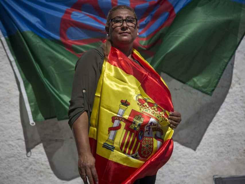 Pepi Torres, presidenta de la Federación gitana de Almería.