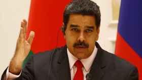 Nicolás Maduro en una rueda de prensa en Minsk.