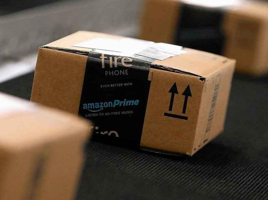 Pedidos de Amazon preparados para enviar.