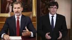 Felipe VI y Carles Puigdemont