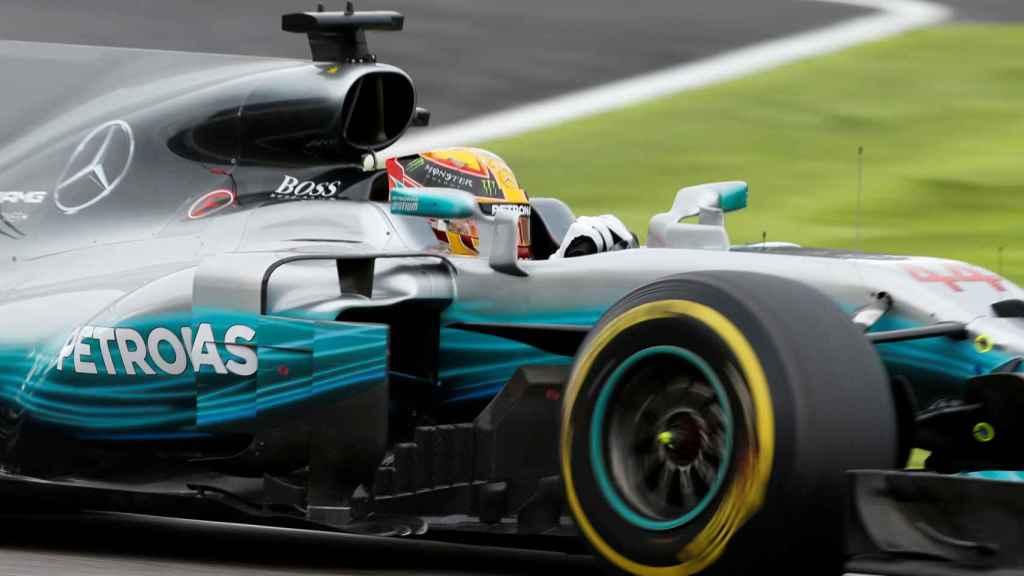 Hamilton, durante la clasificación.