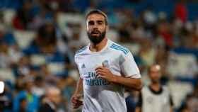 Carvajal, en en Bernabéu. Foto: Pedro Rodríguez / El Bernabéu