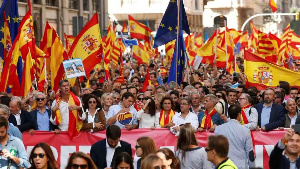 Manifestación de Barcelona el 8 de octubre.