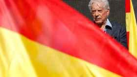 Vargas Llosa, durante su alocución.