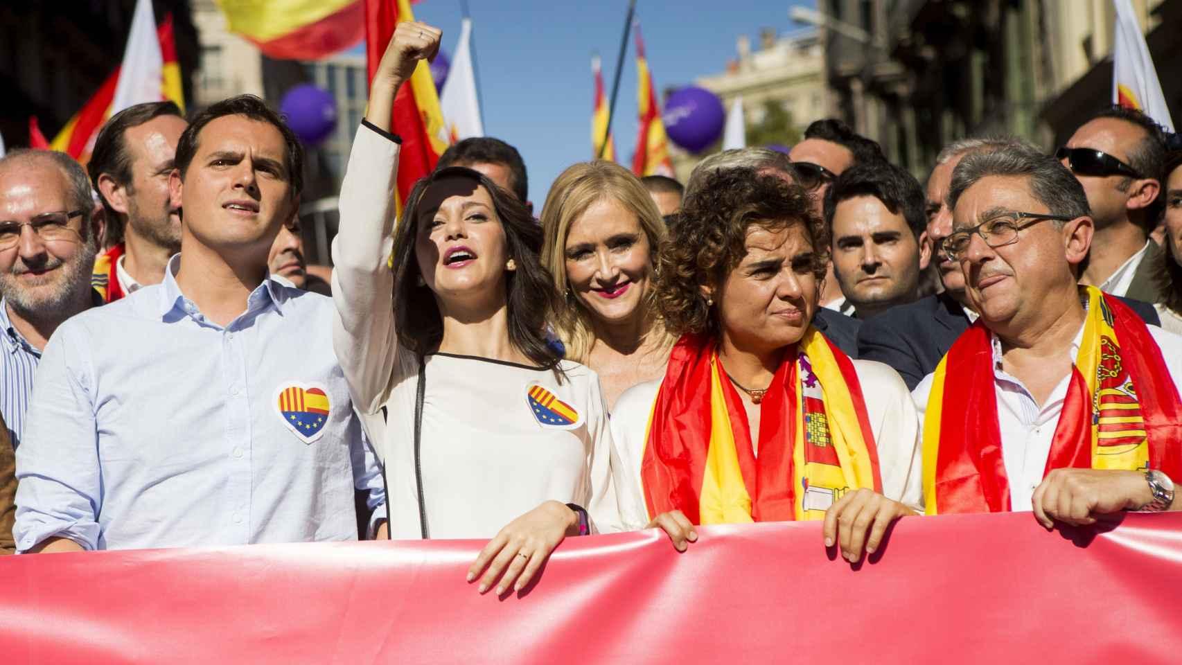 Las caras conocidas en la manifestación por la unidad de España en Barcelona