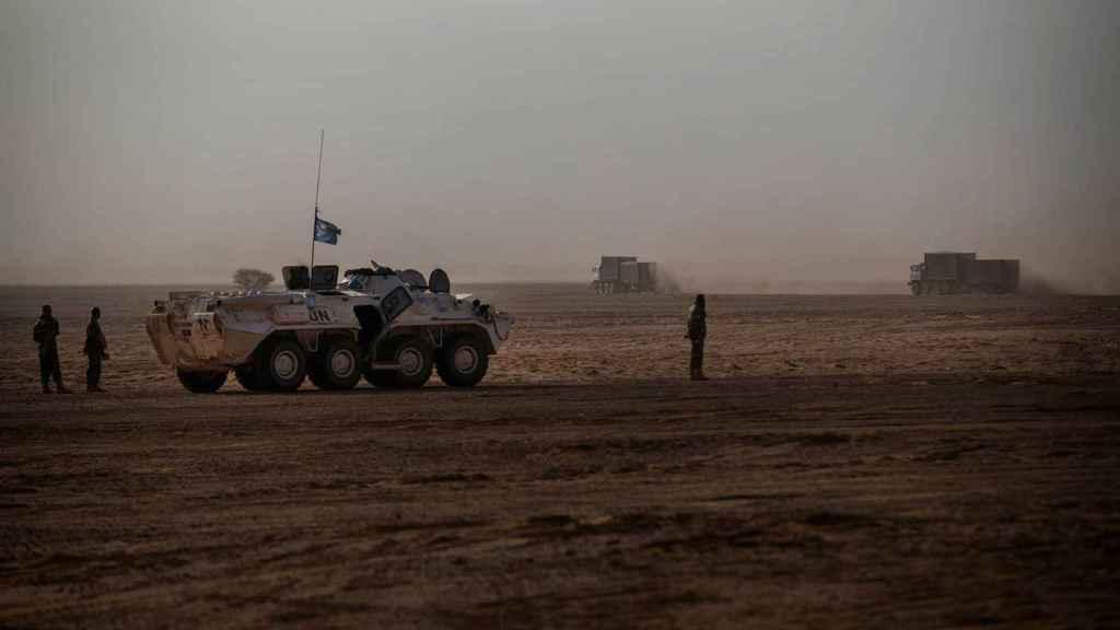 Un vehículo blindado en Gao.