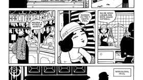 Una de las páginas del cómic Lamia.
