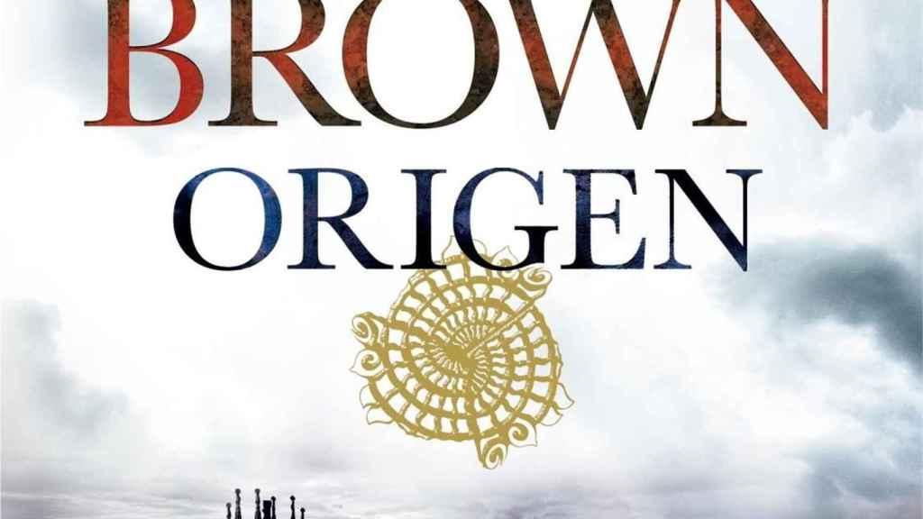 Fragmento de la portada del libro Origen, de Dan Brown.