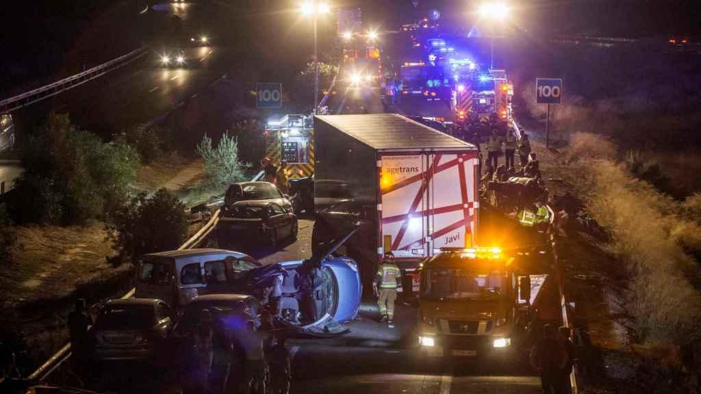 Accidente en Murcia con cinco muertos.