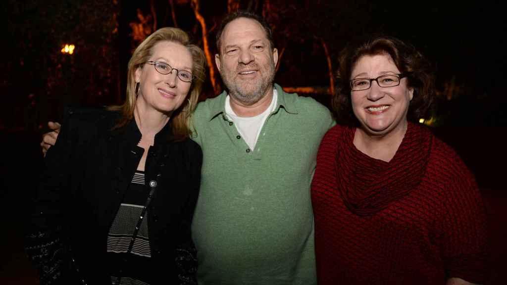 Meryl Streep junto a Harvey Weinstein.