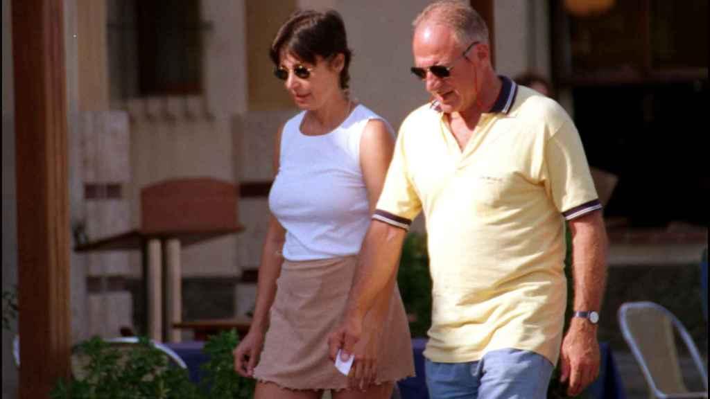 Junto a Roberto Federici de la mano.