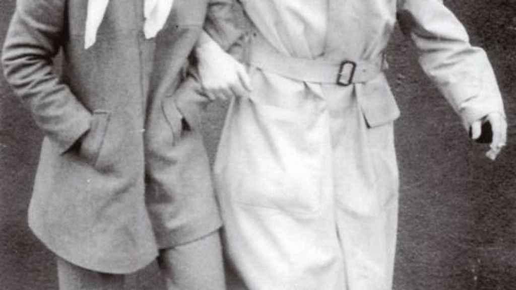 Carmen con Jaime Rivera.