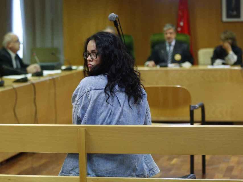Rosa, este martes en el banquillo de la Audiencia Provincial de Madrid.