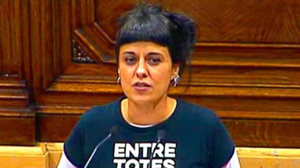 Anna Gabriel, portavoz de la CUP en el Parlament.