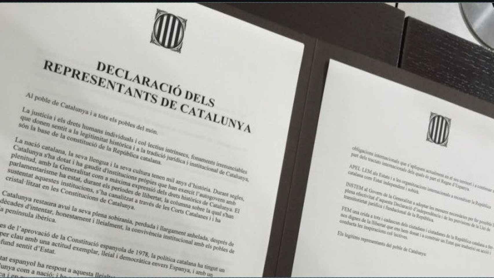 Imagen de la declaración que está firmando
