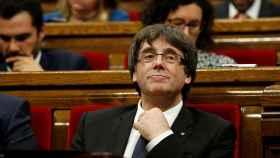 Carles Puigdemont, este martes en el Parlament.