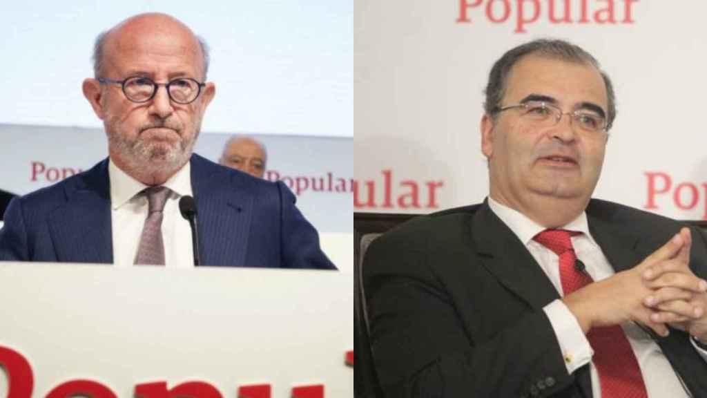 Emilio Saracho y Ángel Ron, expresidentes de Banco Popular.
