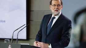 Mariano Rajoy,durante su comparecenci tras la reunión extraordinaria del Consejo de Ministros.