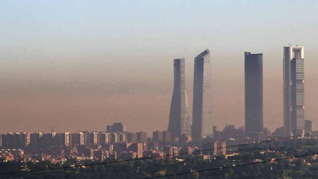 Imagen de la conocida como 'boina' de Madrid.