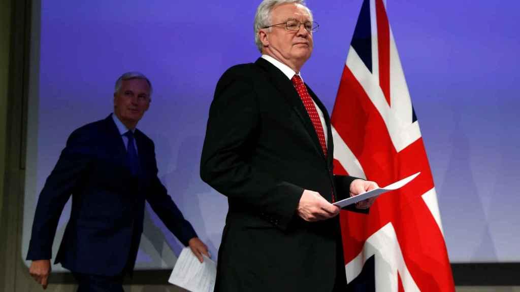 Los negociadores del 'brexit', Michel Barnier y David Davis