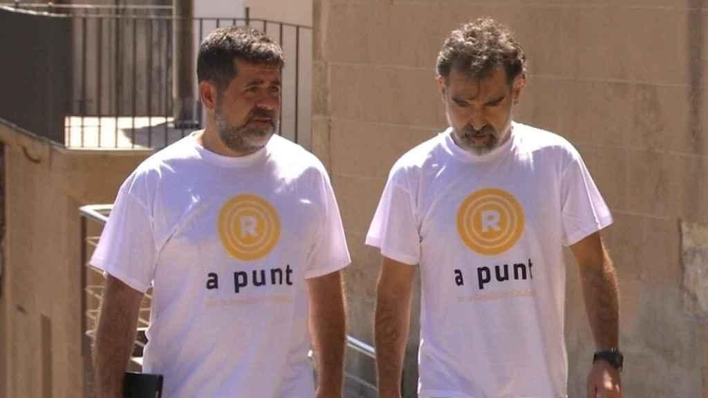 Cuixart y Sánchez, los dos Jordis, declararán el lunes en la Audiencia Nacional acusados de sedición.