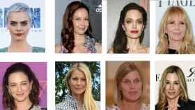 Algunas mujeres que han denunciado los abusos sexuales de Harvey Weinstein
