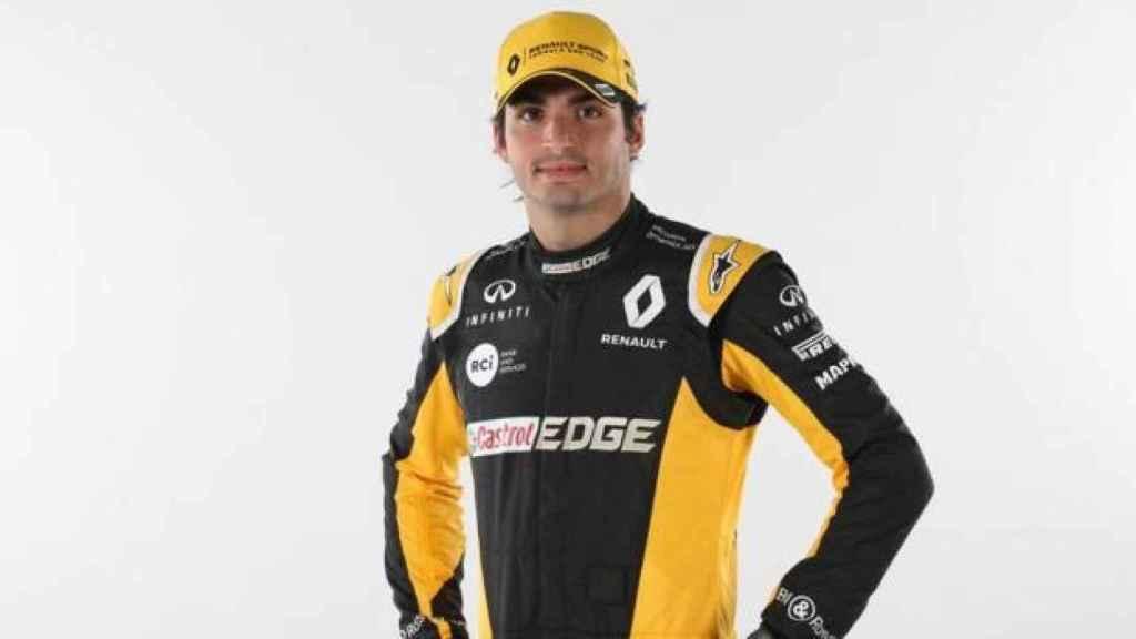 Carlos Sainz, ya con los colores de Renault.