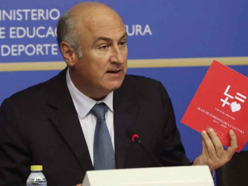 Fernando Benzo el día de la presentación de su Plan de Fomento a la lectura.