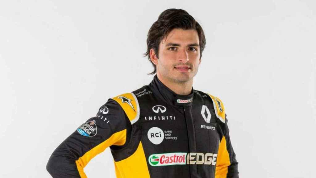 Carlos Sainz, en sus primeras fotos con Renault.
