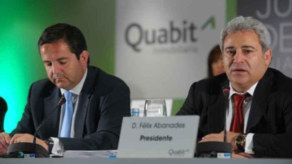 A la derecha, Félix Abánades, presidente de la inmobiliaria Quabit.