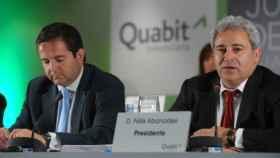 A la derecha, Félix Abánades, presidente de Quabit.